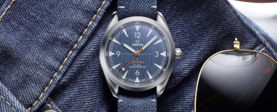 "Omega Railmaster ""Denim"" Co-Axial Master Chronometer"